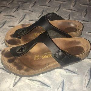 Birkenstock black sandal thong